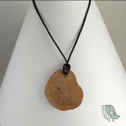 colgante madera roble hecho a mano