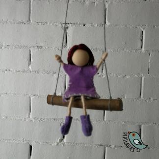 muñeca columpio fem elisa