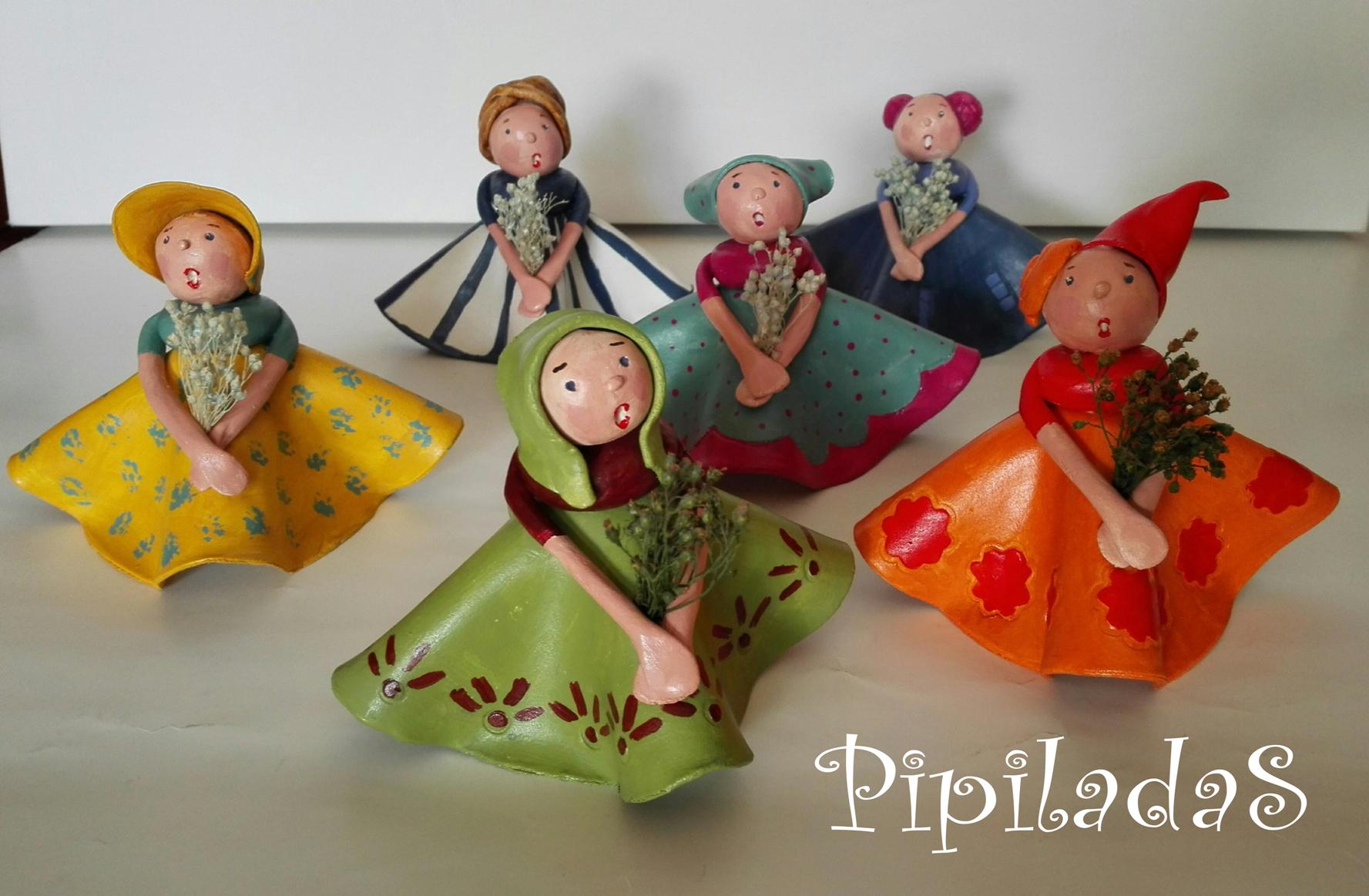 muñecas pasta de papel