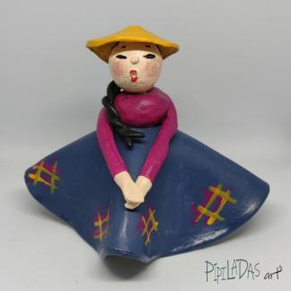 muñeca pasta papel 1001 pipiladas art