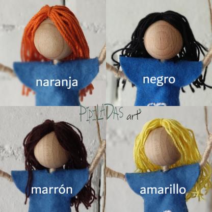 pipiladas muñecas color pelo